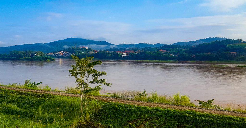 Huay Xai, Laos from across the Thailand