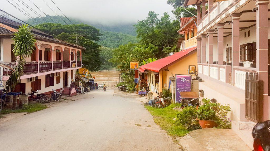 Street in Pak Beng, Laos