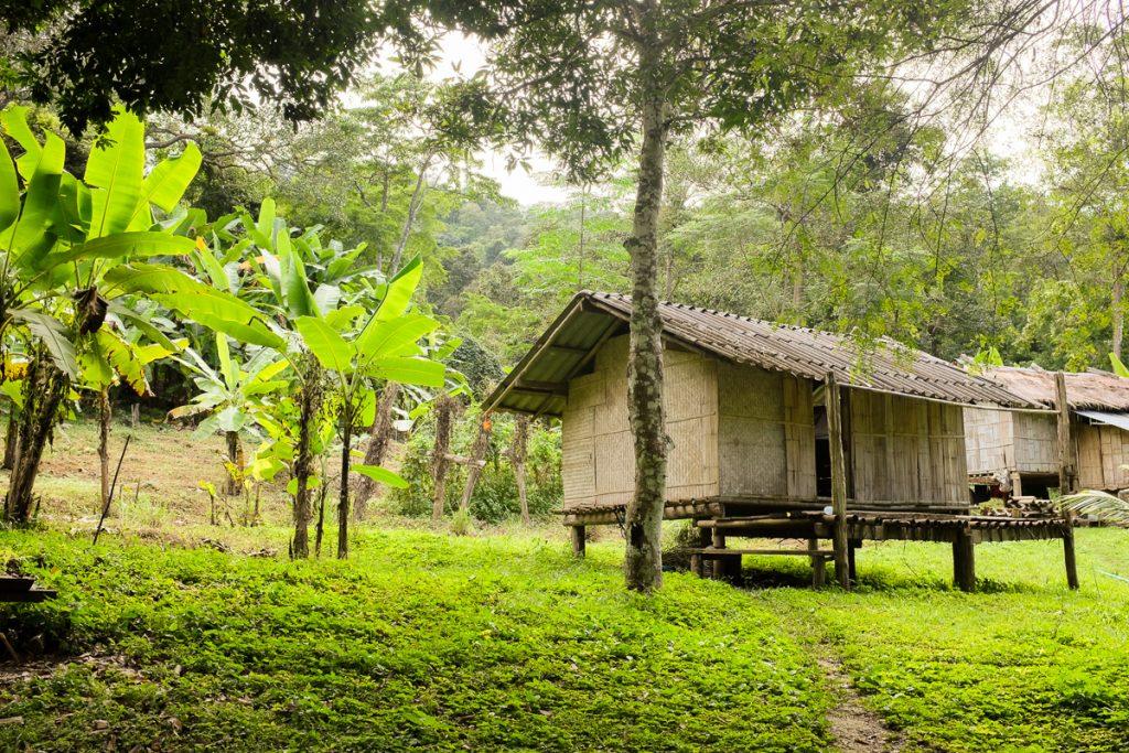Cazarea ideală, casă tradițională suspendată în junglă, Thailanda