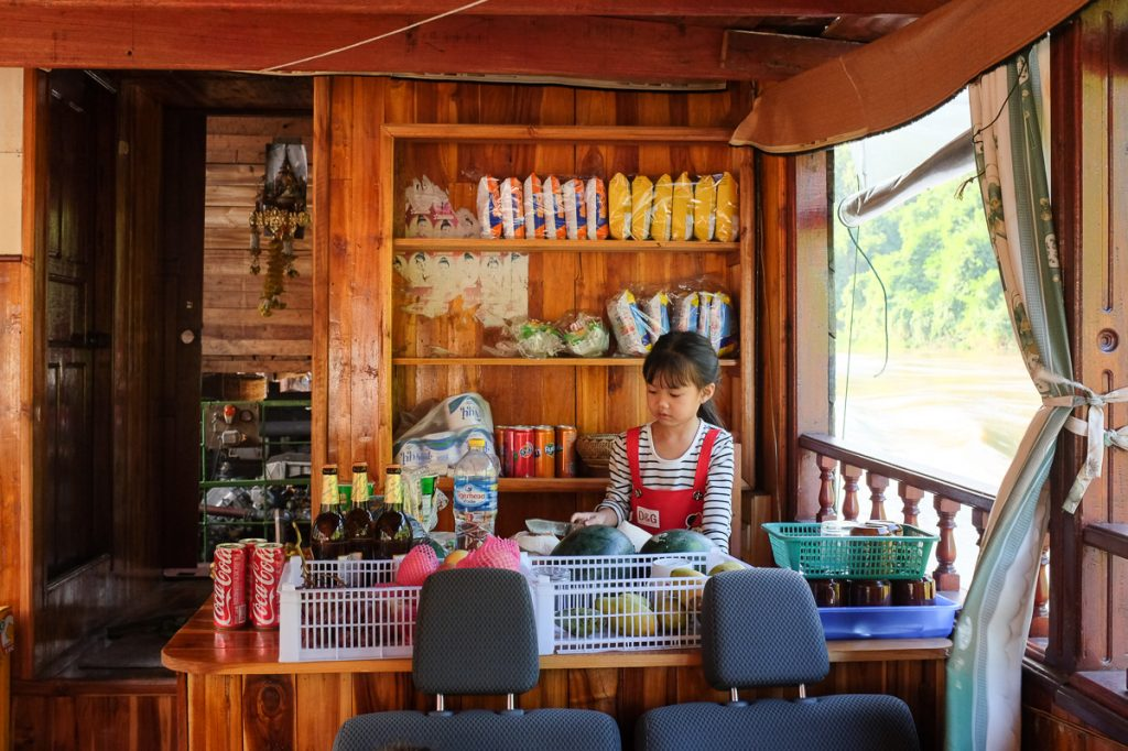 Slow boat offers food and drinks