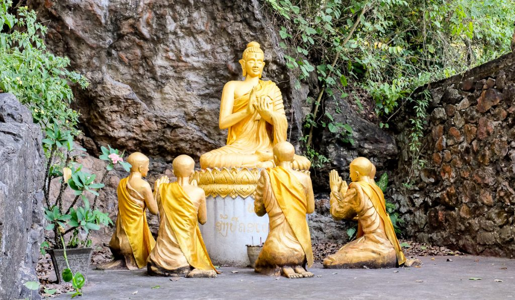 Statues on mountain Phousi, Luang Prabang, Laos