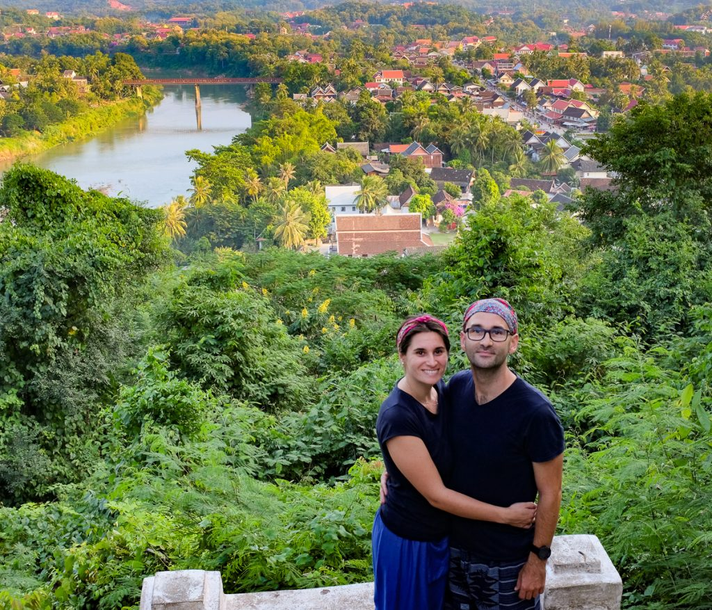 Us on Phousi mountain, Luang Prabang, Laos