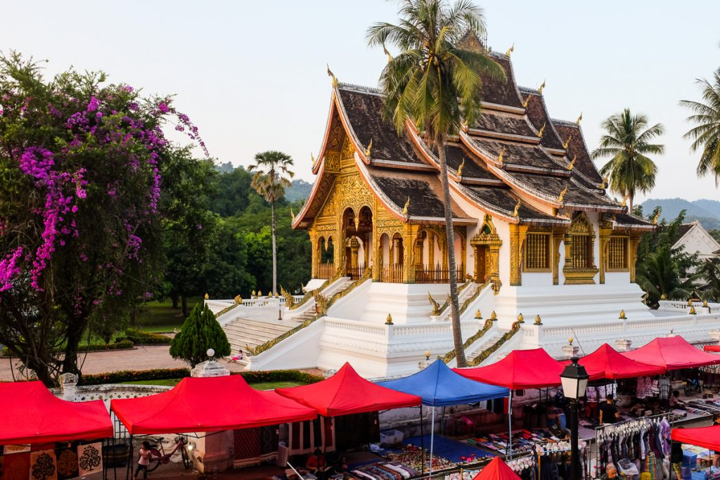 The temple of Royal Palace in Luang Prabang, Laos